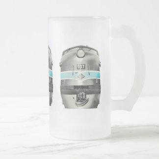 Reading Railroad Lines Diesel # 907 Beer Mug Frosted Glass Mug