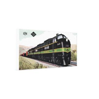 Reading Railroad Lines FT 250 Canvas Print