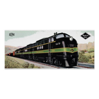 Reading Railroad Lines FT 250 Poster