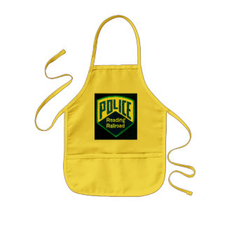 Reading Railroad Police Patch Kids' Apron