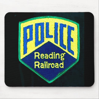 Reading Railroad Police Patch Mouse Pad