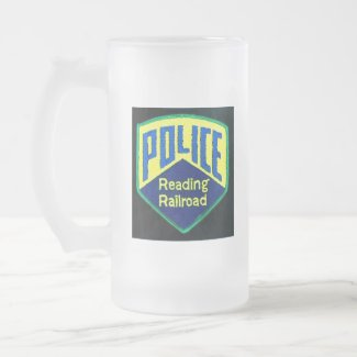 Reading Railroad Police Patch mug