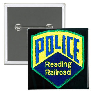 Reading Railroad Police Patch Square Button