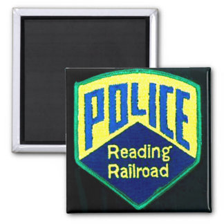 Reading Railroad Police Patch Square Magnet