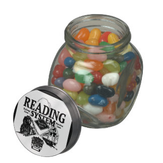 Reading Railroad System 1942 Jelly Belly Candy Jar