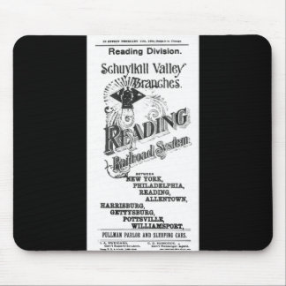 Reading Railroad System Timetable Cover 1894 Mouse Pad