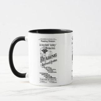 Reading Railroad System Timetable Cover 1894 Mug