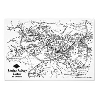 Reading Railway System Map Kodak Photo Print