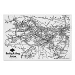 Reading Railway System Map Posters