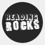Reading Rocks Classic Round Sticker