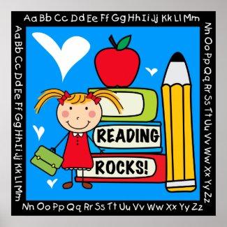 Reading Rocks Classroom Poster