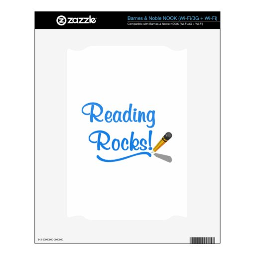 Reading Rocks! Decals For NOOK