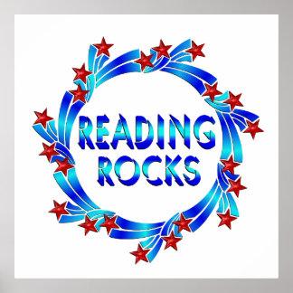 Reading Rocks Fun Poster