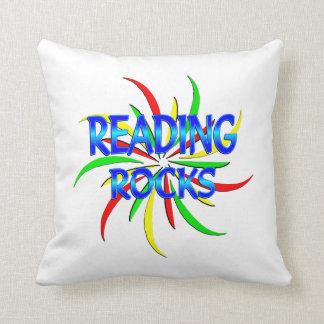 Reading Rocks Throw Pillow