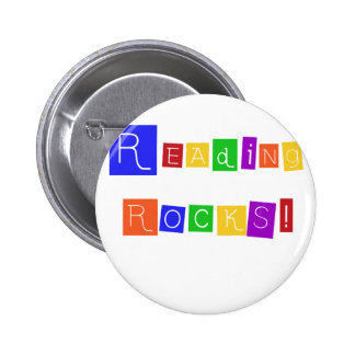 Reading Rocks Tshirts and Gifts Pinback Button