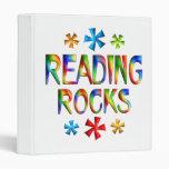READING ROCKS VINYL BINDER