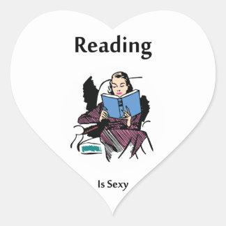 Reading Heart Sticker