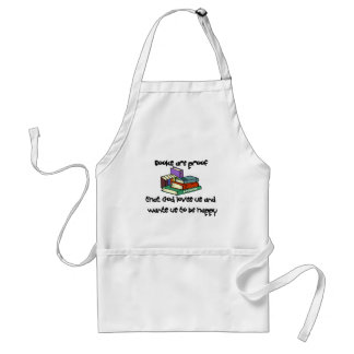 Reading T-shirts and Gifts. Adult Apron
