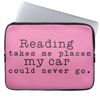 Reading Takes Me Places Laptop Sleeve