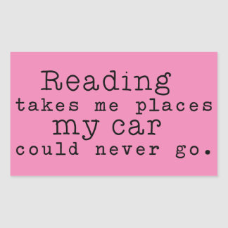 Reading Takes Me Places Rectangular Sticker