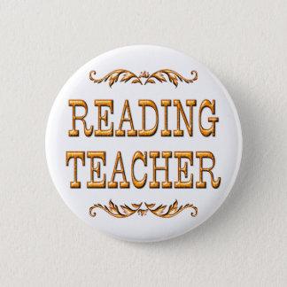 Reading Teacher Pinback Button