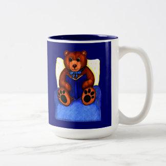 Reading Teddy Bear Mug