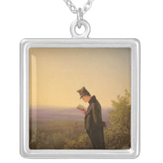 Reading the Breviary, The Evening Silver Plated Necklace