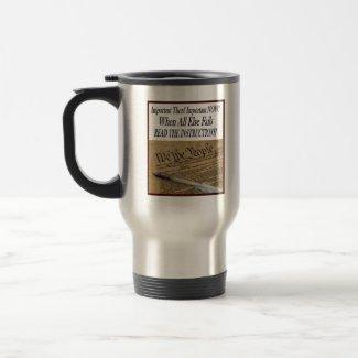 Reading the Constitution Coffee Mug