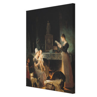 Reading the Letter Canvas Print