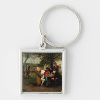 Reading the News Keychain