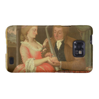 Reading the Palm oil on canvas Galaxy S2 Case