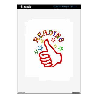 Reading Thumbs Up iPad 3 Decal