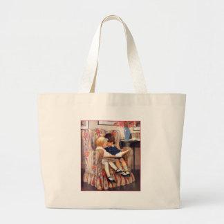 Reading Together Large Tote Bag