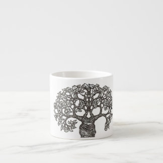Reading tree espresso cup