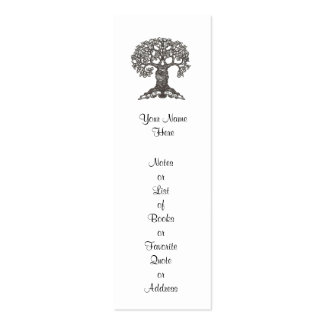Reading Tree Mini Bookmark to Customize Double-Sided Mini Business Cards (Pack Of 20)