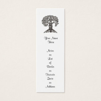 Reading Tree Mini Bookmark to Customize Mini Business Card