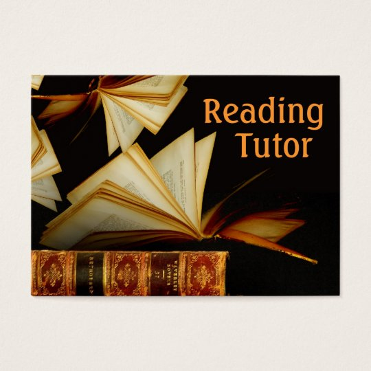 Reading Tutor Business Card