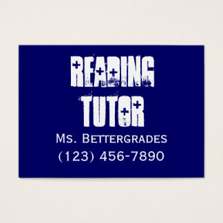 Reading Tutor - templet Business Card