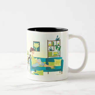 Reading Two-Tone Coffee Mug