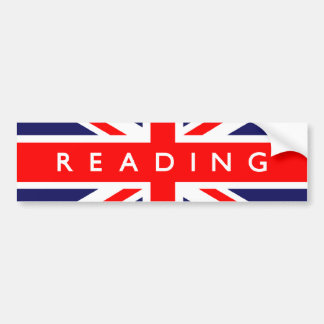 Reading UK Flag Bumper Sticker