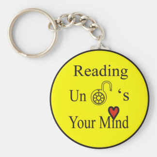 Reading Unlocks Your Mind Keychain
