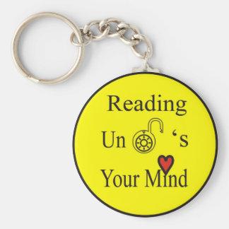 Reading Unlocks Your Mind Key Chains