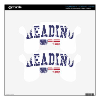 Reading US Flag PS3 Controller Decals