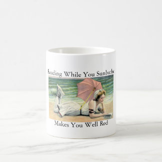 Reading While You Sunbathe Humor Coffee Mug