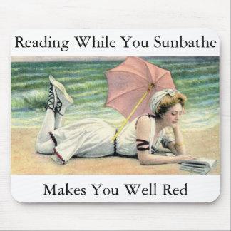 Reading While You Sunbathe Humor Mouse Pad