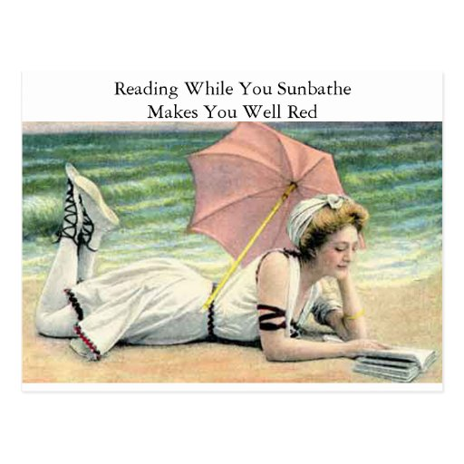 Reading While You Sunbathe Humor Post Cards