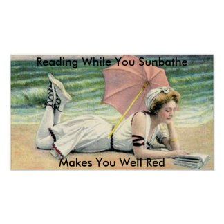 Reading While You Sunbathe Poster