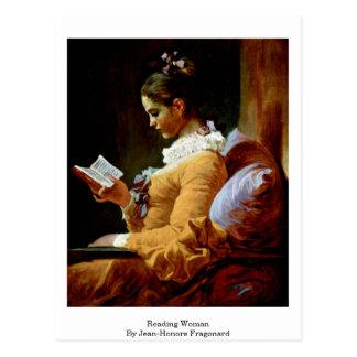 Reading Woman By Jean-Honore Fragonard Postcard