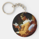Reading Women By Fragonard Jean-Honoré (Best Quali Key Chain