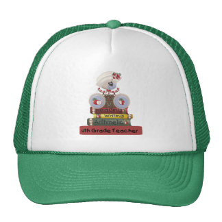 Reading, Writing, Arithmetic 4th Grade Teacher Mesh Hat